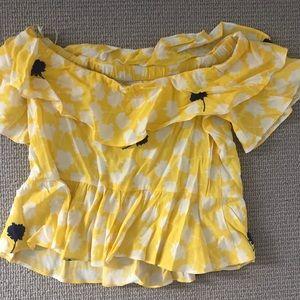 Zara off the shoulder blouse